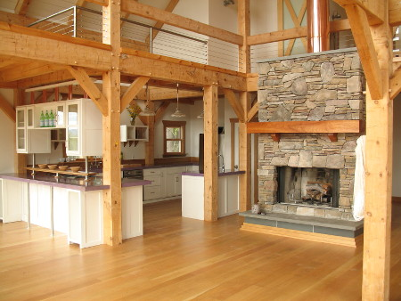 Conversion of Post and Beam Barn into a comfortable home