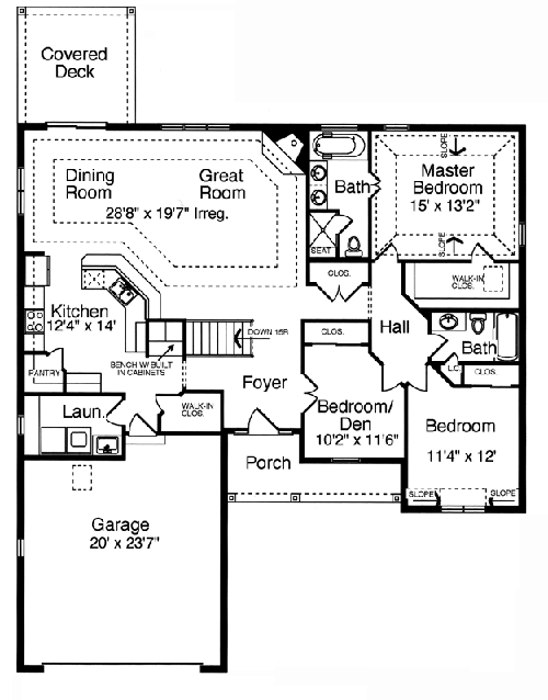 The Laurels 1500-floor plan