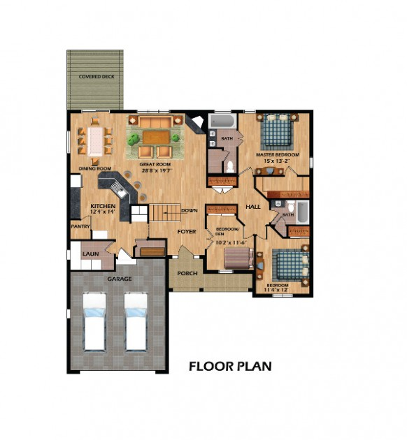 The Laurels - 1512 sq. ft.-Floor