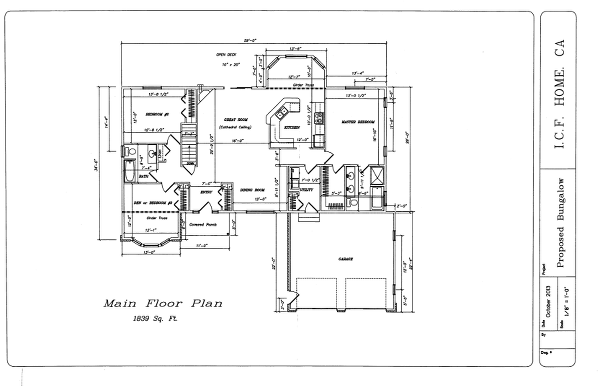 Building Permit Floor Plan