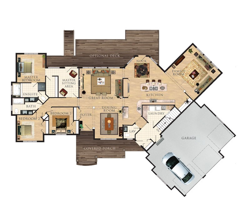 The cranberry floor plan ontario home builders for Cottage plans home hardware