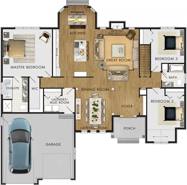 The Foxstone II Floor Plans