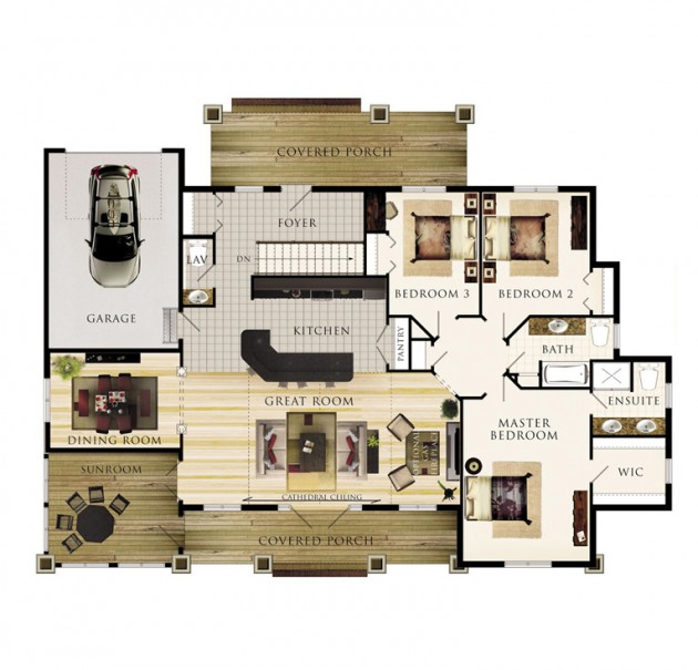 The Inglenook Floor Plan