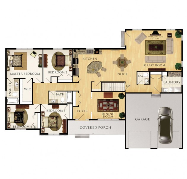 The Sinclair Floor Plan