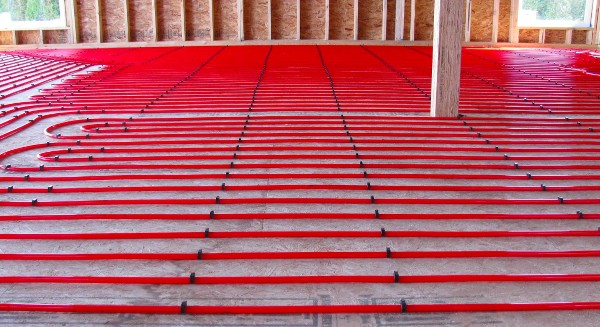 in-floor heating pipe